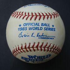 1983 Official Rawlings World Series Baseball BALTIMORE ORIOLES