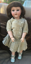 "Antique Bisque Armand Marseille Doll 19"" Ball Jointed Body antique clothing"