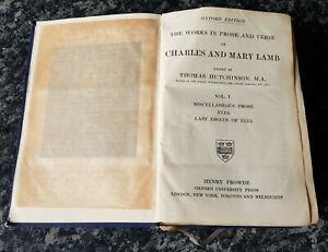 ANTIQUE BOOK.1908.WORKS OF CHARLES & MARY LAMB.SHAKESPEARE.857 PAGES.VOL I.PROP.