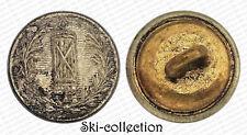 Bouton d'Administration. France, III°République. Argenté. 12 mm. Vers 1900