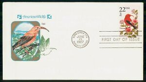 Mayfairstamps US FDC 1987 COVER LIWI WILDLIFE wwi93417