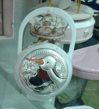 1 porta ciuccio  neonato con sfoglia argento 925 brings baby pacifier