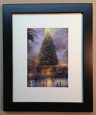 "Thomas Kinkade Framed Open Edition print ""Christmas In New York"" - NEW"