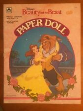 "Vintage Disney 1991 ""Beauty And The Beast"" Paper Dolls-Pristine Uncut-SHIPS FREE"