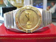 Mens OMEGA Constellation Stainless Steel Gold Day Date Watch