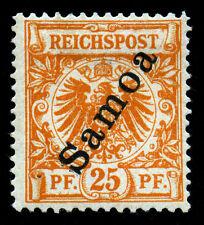 Samoa. German Dominion. 1900. 25pf. Orange. SC# 55. MH. Double Sign