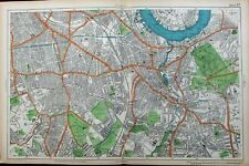 London Thames River Greenwich Observatory Park Brockley c.1911 old city plan map