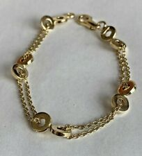 """14k Gold   8 inch Ladies Womens Teen  """"O"""" Bracelet  Solid Yellow Gold"""