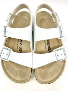 Women's Sz 36 Birkenstock Arizona EVA Birko-Flor Cork Footbed Sandal White