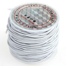 1 x White Rubber Elastic Beading Cord Thread String 1 mm  LW