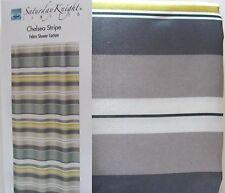 Saturday Knight Shower Curtain Gray Yellow Chelsea Stripe