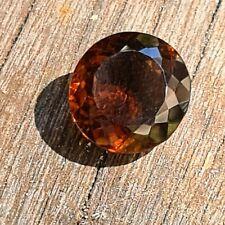 Smokey Quartz 14.03  TCW Round Conical Faceted Natural Gemstone
