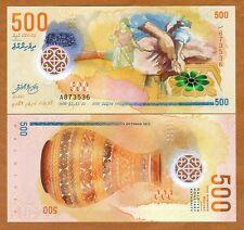 Maldives, 500 Rufiyaa, 2015 (2016), Polymer UNC > New Design