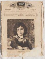 ROMA ANTOLOGIA ILLUSTRATA FANCIULLA SANT'ANTONIO DA PADOVA BARBIERE 1875