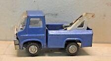 Vintage Louis Marx Toy Wrecker Tow Truck Blue 4 Inch Metal