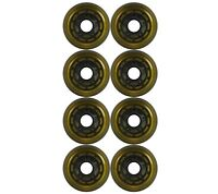 Inline Roller Skate Wheel 76mm 82a Yellow/Black Outdoor Wheel 8-PACK
