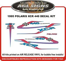 1995 POLARIS INDY XCR 440 Reproduction Decal Kit  graphics stickers