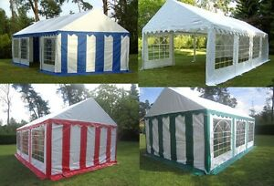 XXL Partyzelt 3x6 - 4x10m Pavillon Festzelt 500g/m²  PVC + Stahlgestell NEU
