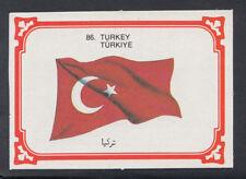 Monty Gum 1980 Flags Cards - Card No 86 - Turkey (T633)