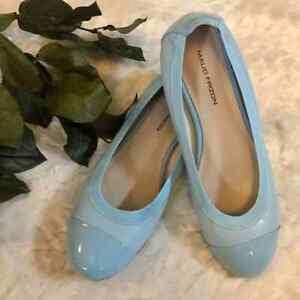 Maud Frizon Leather Blue Ballet Flats 41