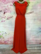 BNWT PHASE EIGHT FULL LENGTH RED MAXI GENEVIEV JUMPSUIT DRESS SIZE 18
