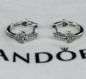 Pandora Alluring Hearts Hoop Women's Earrings - Sterling Silver