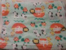 Baby Gear Baby Blanket Noahs Ark Boat Elephant Giraffe Zebra Lion Soft Aqua Mint