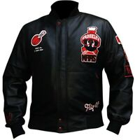 Men's Air Jordan WB Marvin The Martian Black Bomber Leather Jacket