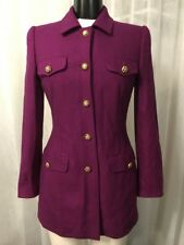 Escada Fuchsia Luxurious Cashmere Silk Blend Women's Blazer Size EU 34 US 6