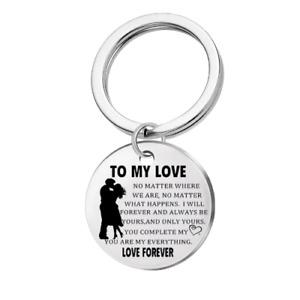 To My Love. Romantic Keyring Gift Girlfriend Boyfriend Husband Wife Anniversary