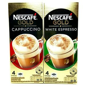 3 x Nescafe' Gold Cappuccino & White Espresso Premix Coffee Delicious Healthy