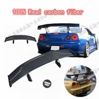 CARBON FIBER TOP SECRET STYLE GT WING REAR SPOILER FOR NISSAN R34 GTR GTT