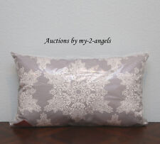 NEW Pottery Barn SNOWFLAKE Indoor Outdoor Lumbar Pillow With Insert 16x26