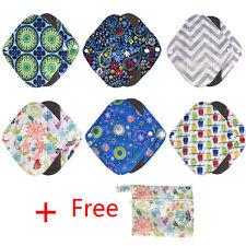 6pcs Waterproof Reusable Bamboo Sanitary Menstrual Cloth Pads Liners 1 Bag G0