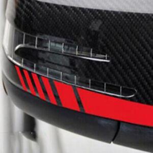 1Pair Red Racing Strips Rear View Mirror Car Guard Decor Sticker Decal Vinyl