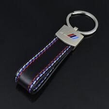 Car styling Leather Belt Chrome Keyring Keychain Key Chain For BMW M Sport #1