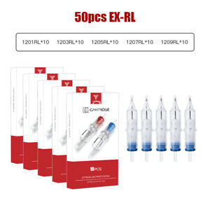 50x Disposable Tattoo Needle Cartridges Sterilized Round Liners 1 3 5 7 9RL