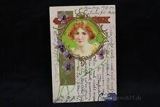 alte Jugendstil AK Postkarte von 1901