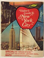 NEW YORK CITY VINTAGE 1987 VISITOR'S GUIDE 8 ATTACHED POST CARDS TWIN TOWERS