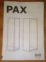 INSTRUCTIONS Owners MANUAL Quick Start User Guide For PAX IKEA WARDROBE Cupboard