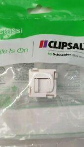 Clipsal 30RJ45SMA6SHC-WE RJ45 Jack Socket Cat6 UTP 30M with Shutter White