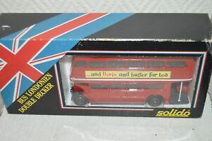 BUS SOLIDO LONDONIEN DOUBLE DECKER EN BOITE  DIE CAST BOITE  CAR/AUTOBUS NEUF
