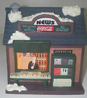 Christmas Town Square Collectibles 2000 Coca-Cola Coke Newsstand Lighted
