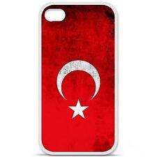 Coque housse étui tpu gel motif drapeau Turquie Iphone 4 / 4S