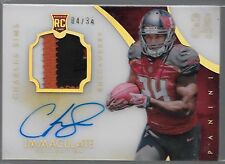 2014 Immaculate Numbers Charles Sims On Card Auto 4 Color Patch Rc # to /34
