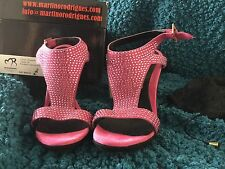 Martinez & Rodrigues Peep Toe Magenta Crystal Size 6 Shoes