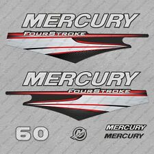 Mercury 60 hp Four Stroke EFI outboard engine decals sticker set reproduction