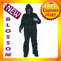 C590 Mens Plush Complete Gorilla Suit  Ape Monkey Halloween Fancy Adult Costume