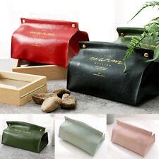 PU Leather Tissue Box Cover Napkin Paper Storage Dispenser Holder Home Organ_kz