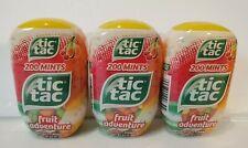3 PACK Tic Tac Fresh Fruit Mints FRUIT ADVENTURE 200 Mints Ea  3.4 Oz 08/2020